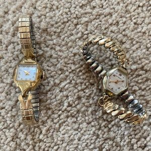 Lot of 2 vintage women's watches